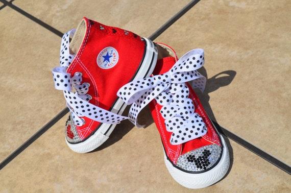 Items similar to I Love Mickey inspired Baby Girl Converse ...
