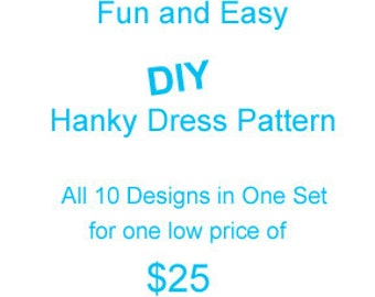 DIY Set of 10 Hanky Dress Pattern Designs