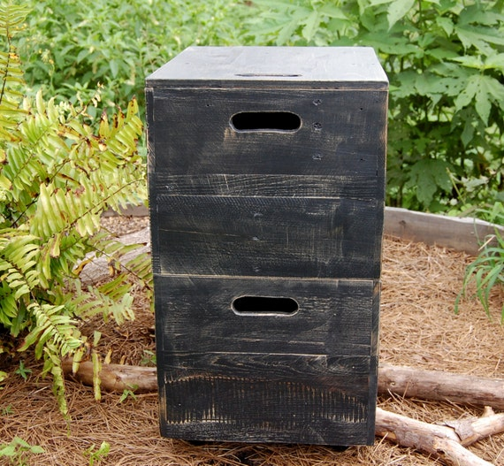 Rolling Wood File Cabinet/ File Crate/ File Organizer/ Office