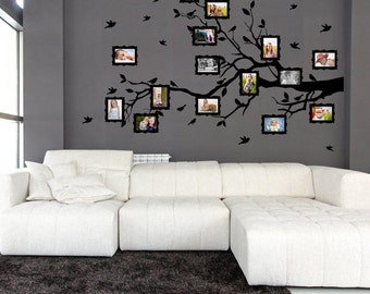Wall sticker - Family twig for photos (3400n)