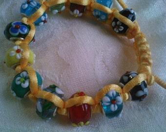 Sunshine and daisies bracelet
