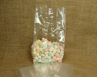 "Gusseted Cellophane Favor Bags - Party Favor - Wedding Favor - 25 - 4 x 9  with 2.75"" Gusset"