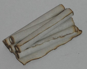Dollhouse Miniature handcrafted 1/12th scale Stack of scrolls tiny treasure cute