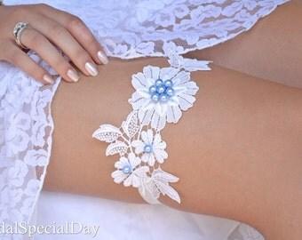 White Garter, Lace Garter, Wedding Garter, Prom Garter, Bridal Garter Set, Vintage Garter, Toss Garter, Garter Wedding, Bridal Accessories,