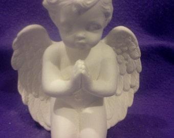 "Ceramic Scioto 1742 Kneeling 7"" Cherub in Prayer pose ready to paint"