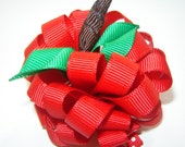 Girls, Toddlers Back To School, Fall Apple Loop Bow