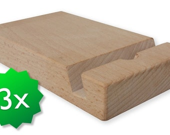Three pack original friendly wooden ipad stand