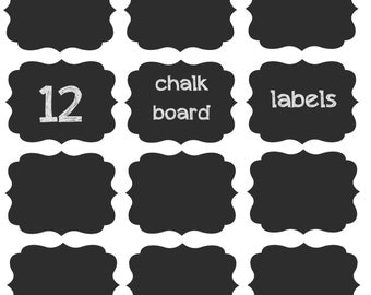 SALE!!! 12 Chalk Board Labels 3.5in x 2.5in on adhesive vinyl