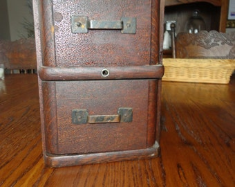 Set of 2 Sewing Machine Drawers Stacked