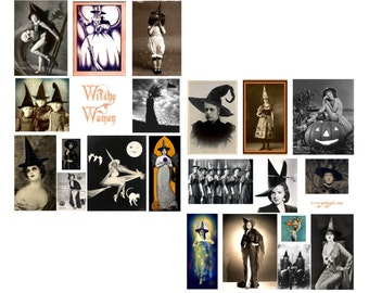 Witchy Women Digital Collage Set