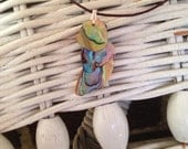 Abalone Love- shell layered necklace