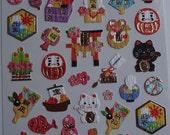 Japan Mind Wave  WASHI Good Fortune Sticker sheet/75310