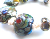 Handmade Lampwork Bead Sets, Khaosbeads, SRA