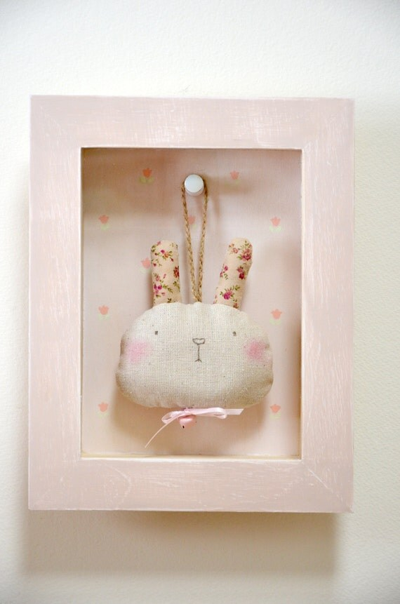 Baby Bedroom In A Box Special: Baby's Room Wall Art Shadow Box / Bunny In A Shadow Box