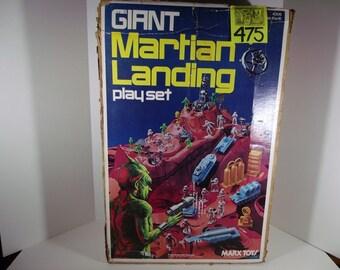1970's Marx Martian Landing Playset box