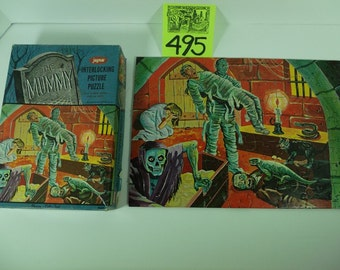 "1960's Jaymar Monster Puzzle -The Mummy ""Cellar Tomb"""