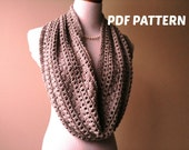 KNITTING PATTERN  - CoCo's Pearls Infinity Cowl - Easy Lace -  Instant Download - PDF File