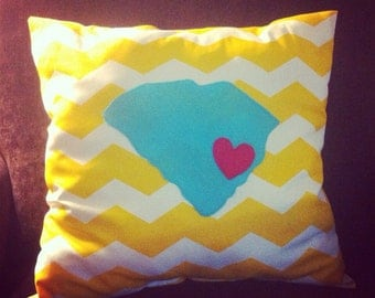 Appliquéd South Carolina Pillow