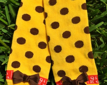 Yellow Dot Leg Warmers- customize available