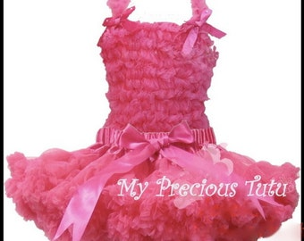 Hot Pink Petti Skirt and Tank Top Set - size 3T