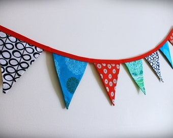 Bunting, Fabric Banner, 10 flags
