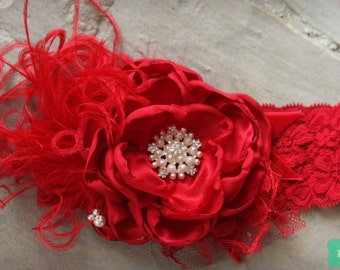 Radiant Rapture by Exquisite Little Lady Christmas Holiday headband M2M Persnickety Red Lorelei Dress