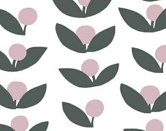 Lotta Jansdotter Glimma fabric - Tove in Rosey Cheeks