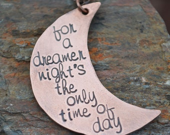 Stamped Newsies Quote Necklace