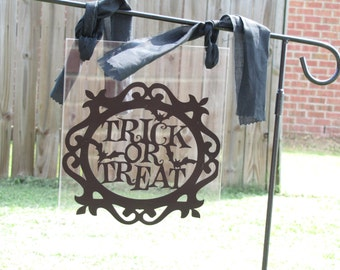 Trick or Treat Halloween Garden flag