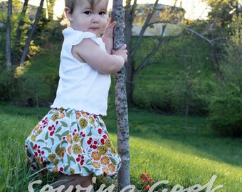 Bubble Skirt Girl's PDF Sewing Pattern - sizes 3 months to 6 years