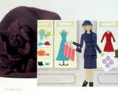 Shopping Girl Card - Girl Art - Colourful Illustration - Greeting Card - Fun Artwork - Girl Gift - Retro Art - Shop Window Card - 'Shop Hop'