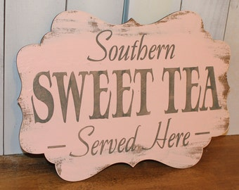 SWEET TEA Sign//Photo Prop/Southern/ Served Here/U Choose Colors/Great Shower Gift/Reception/Event Sign/Blush/Gray