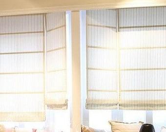 Custom Roman Shade Curtain Shape(2 colors)  Made to Order