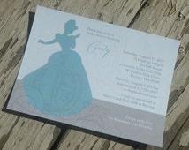 Disney's Cinderella Theme Bridal Shower Invitation - Custom Printable PDF