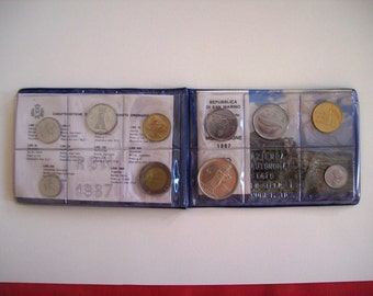 Vintage Coins Republic of San Marino. year 1987.  art. 0022 very beautiful coins for serious collectors. 30 years old.30th Birthday