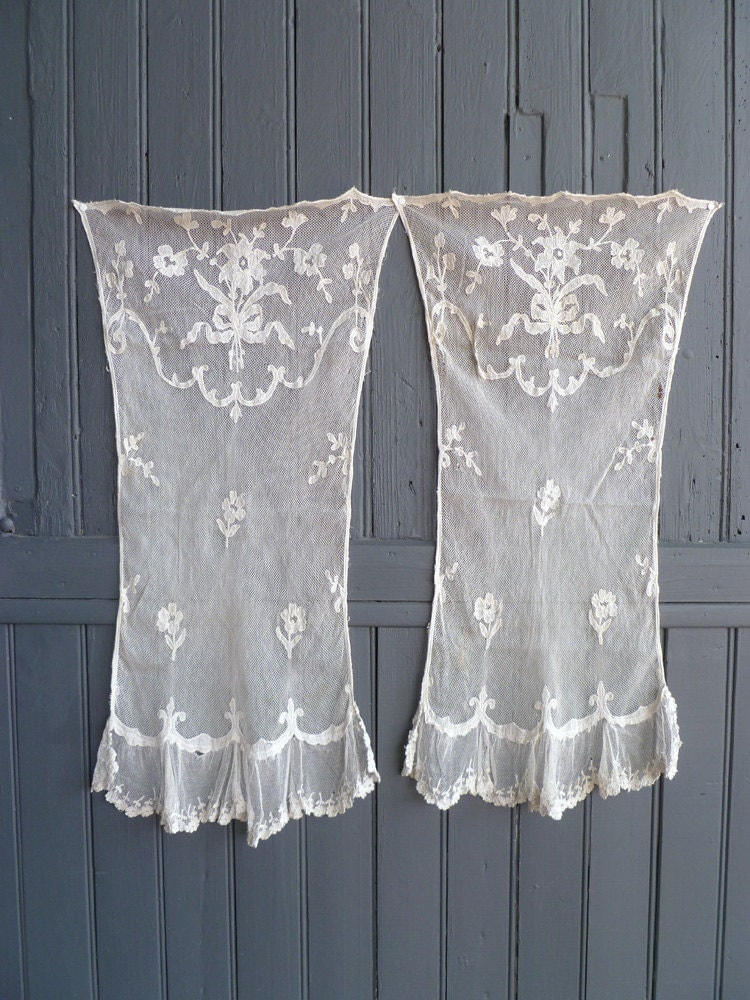 Antique French Lace Curtains Vintage French Decor