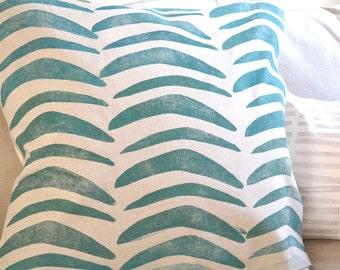 Block print, Boomerang hand printed pillow cover