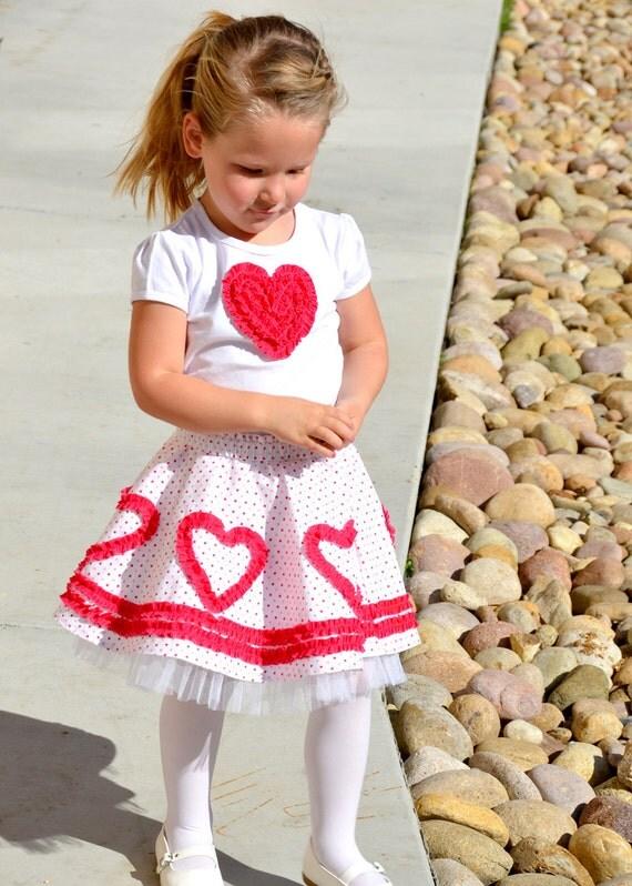 Valentine Heart Circle Skirt Pattern Girls Toddler Dress