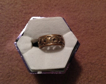Vintage Uncas Brass Band Ring