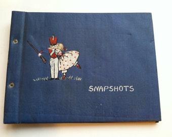 "Vintage 1940's ""Snap Shots"" Album, Soldier & Sweetie Photo Album - Unused"