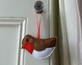 Hanging Robin Felt Decoration