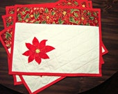Quilted Poinsettia Placemats