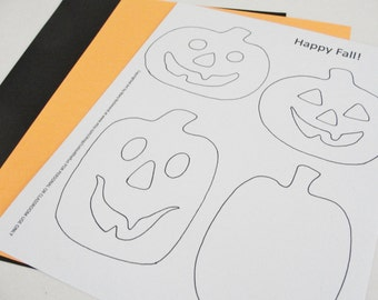Halloween Printable Coloring Page DIY Jackolanterns PDF Digital Printable File Instant Download Halloween Pumpkin Cutout Page for Kids