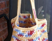 RESERVED FOR JOY - Crochet Grocery Tote Bag - Custom Lined Request