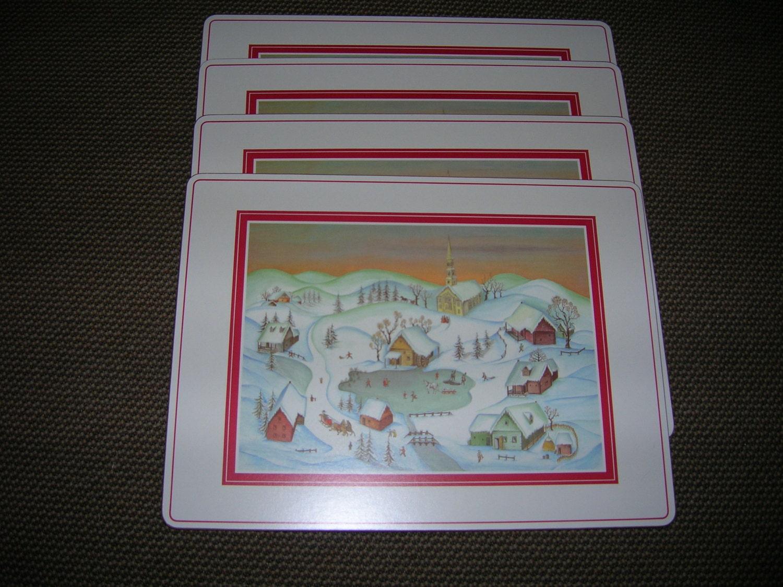 Set Of 4 Hard Cork Backed Placemats Royal Table Georgivs