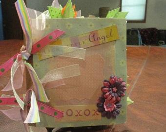 our little angel girl paper bag scrapbook album