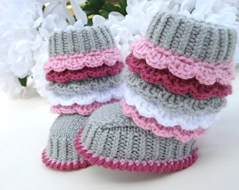 Baby Booties Crochet Baby Shoes Toddler Shoes Girl Crochet Shoes Baby Girl Crochet Booties Knitted Baby Shoes Newborn Shoes Booty Infant