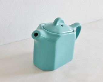 Vintage Blue Green Teapot or Water Pitcher