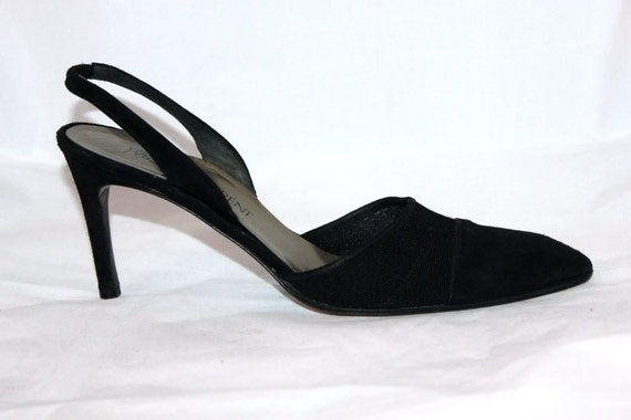 ysl shoes yves laurent black high by
