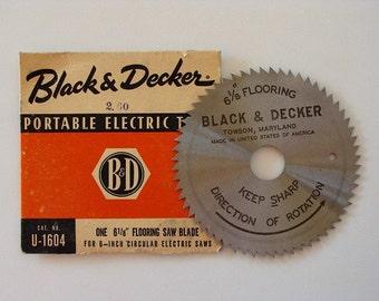 Vintage Black & Decker Flooring Saw Blade U1604